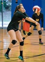 Girls volleyball photo by Bob Williams
