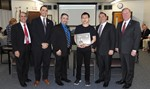 Music student honored by the Board of Ed