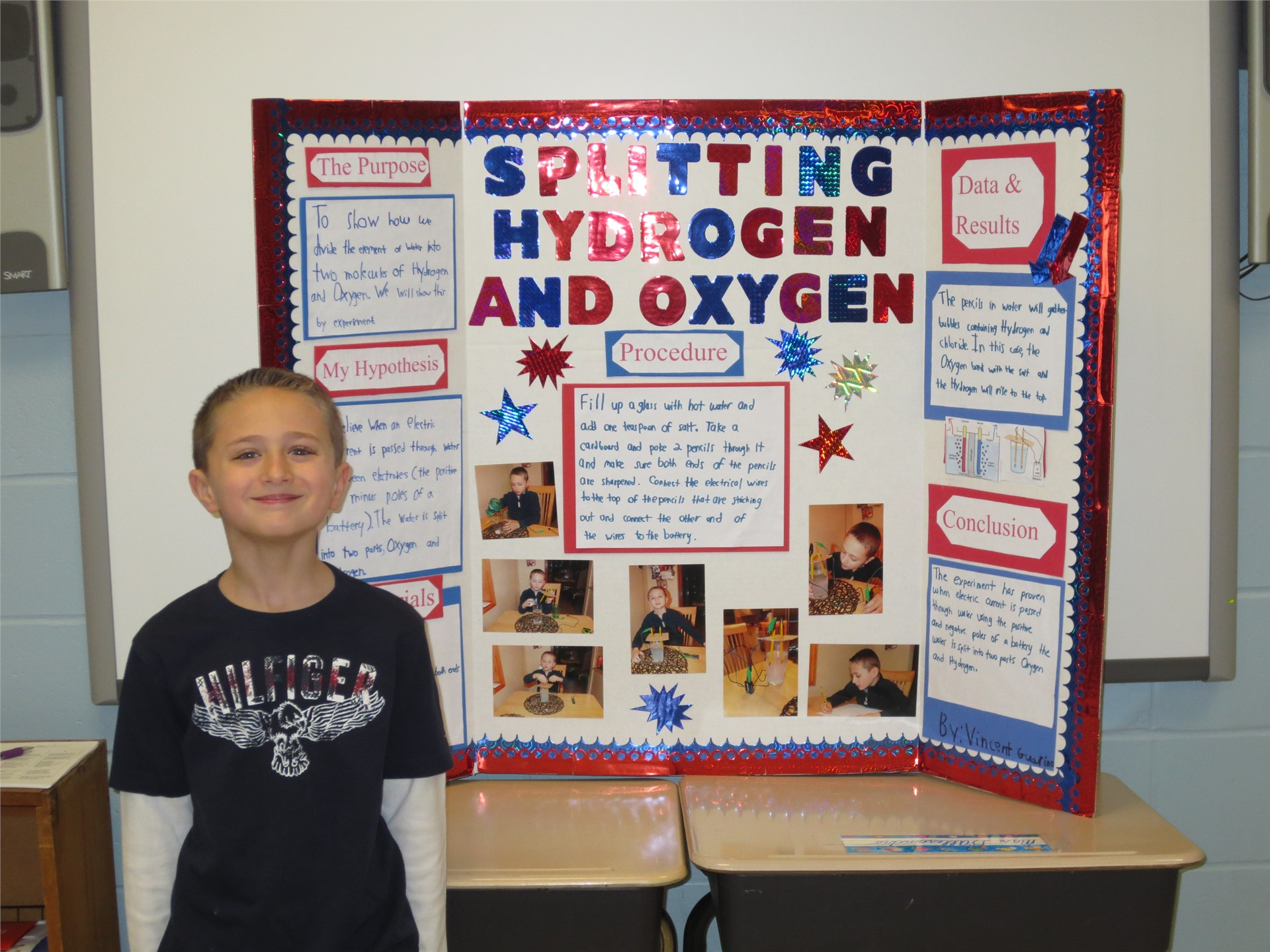 Photo Of Science Fair Project Called Splitting Hydrogen And Oxygen