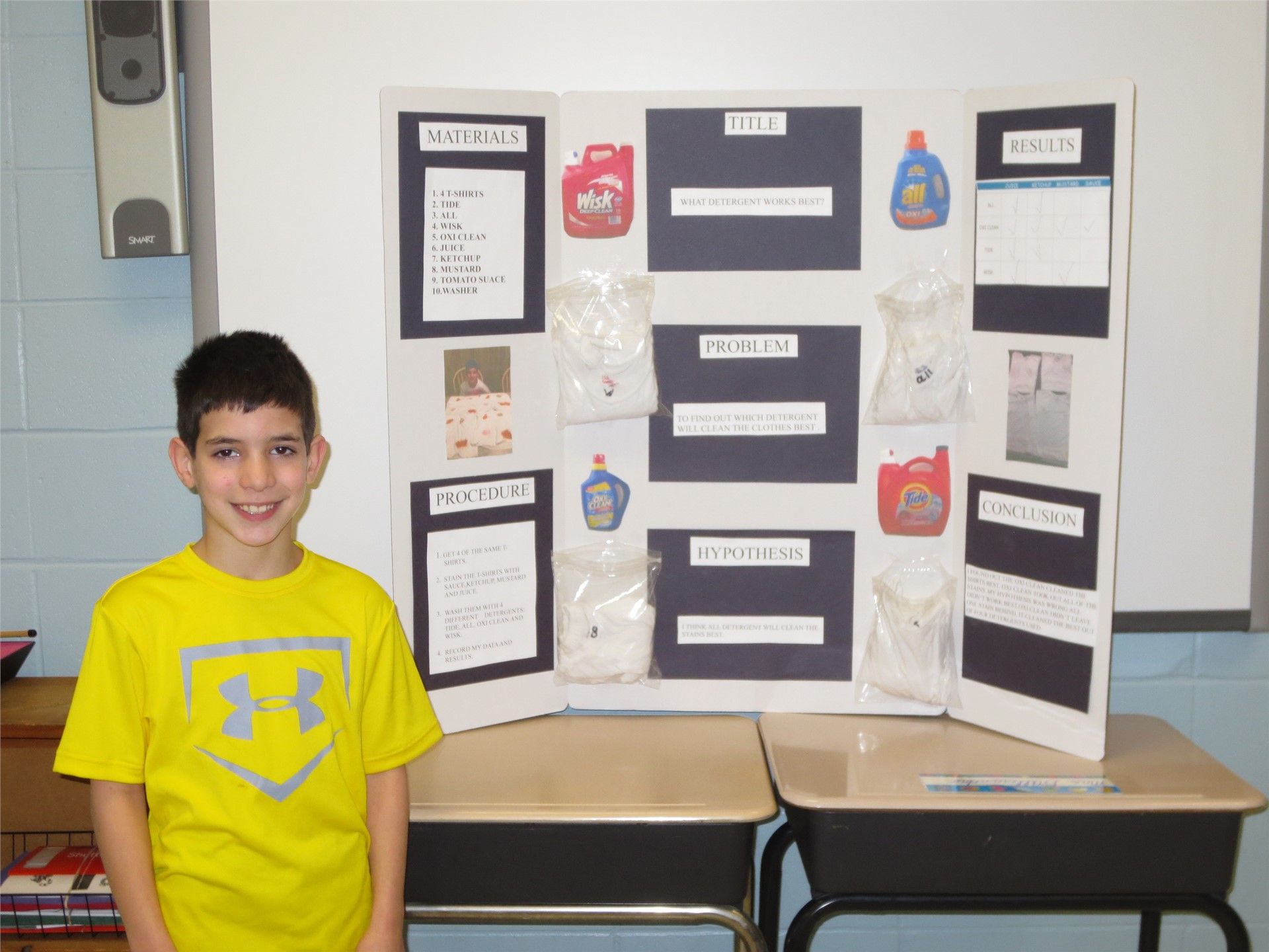 Photo of Student's Science Fair Project
