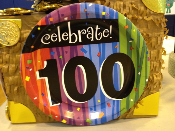 Celebrate 100 Party Plate