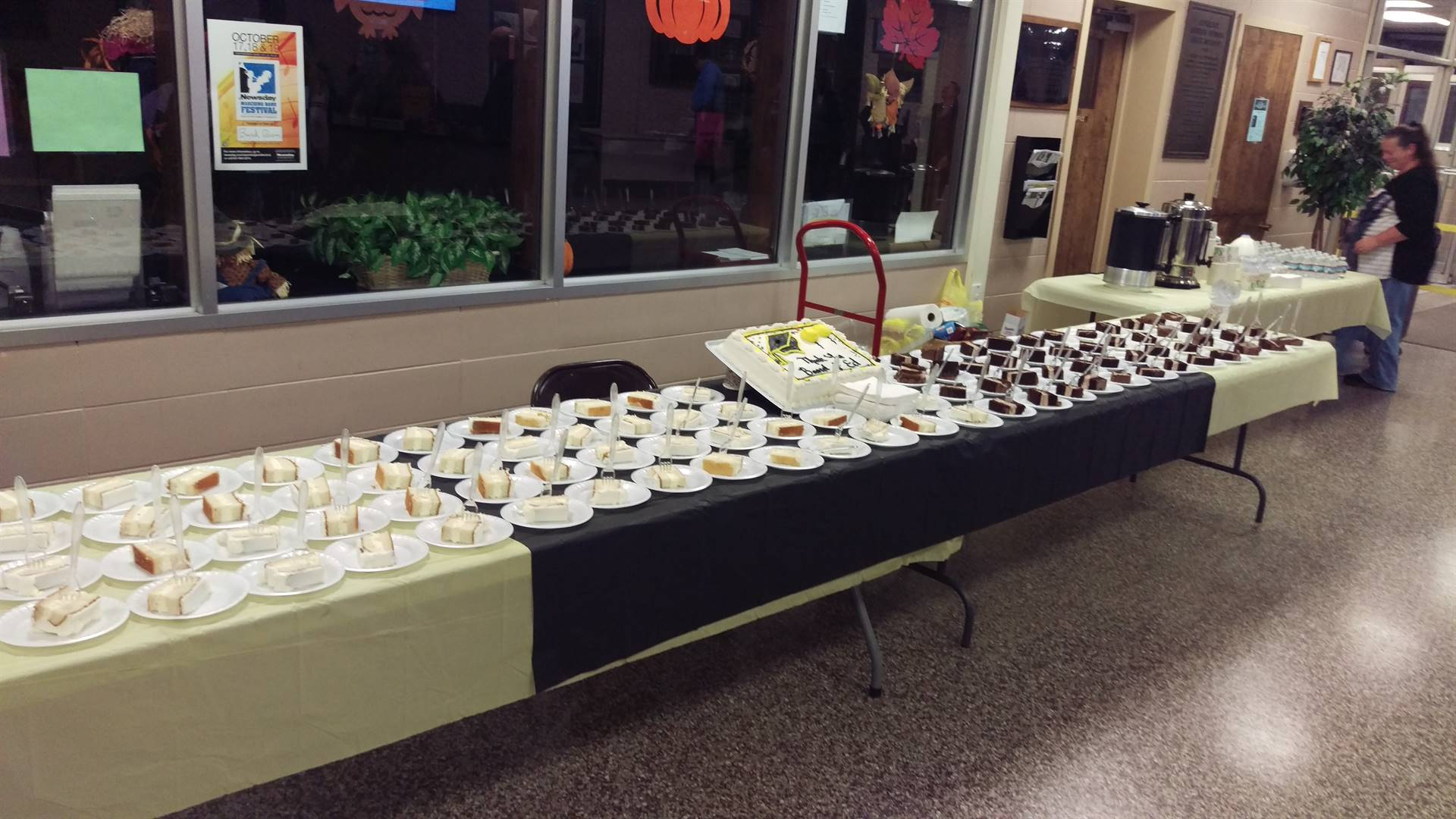 PTA  Council provided refreshments for BOE Appreciation Night.