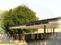 Photo of Front of Wood Park School