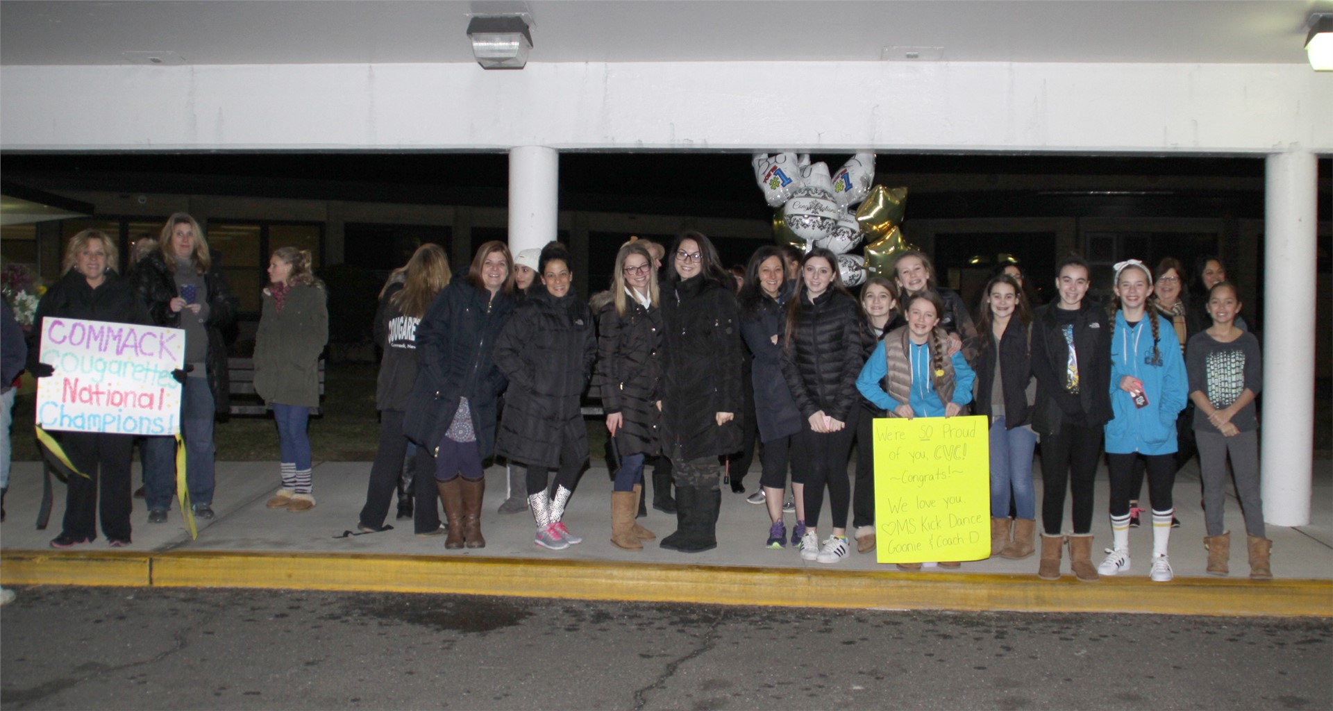 Thanks to everyone who greeted the girls!