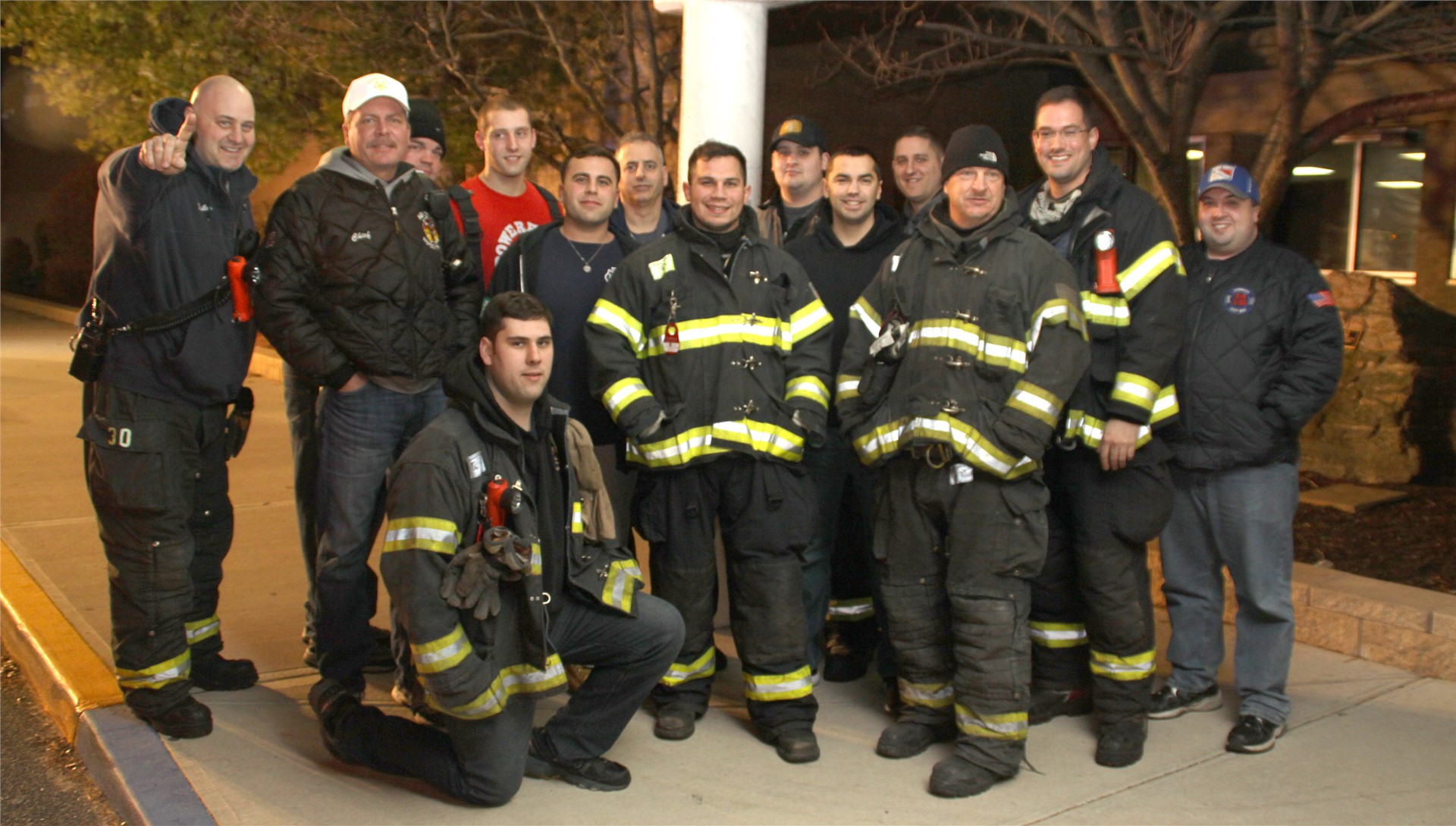 Thanks to our Commack Volunteer Firefighters for the escort!