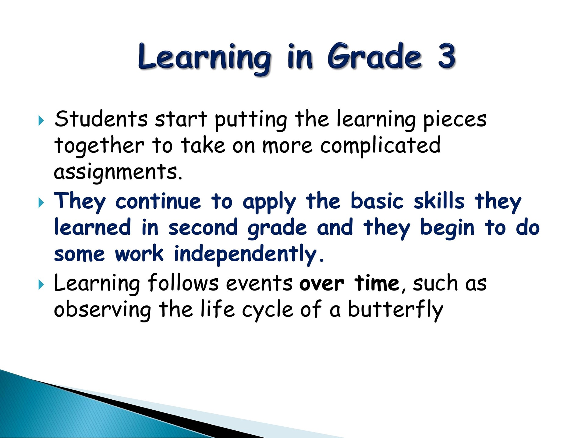 Learning in Grade 3