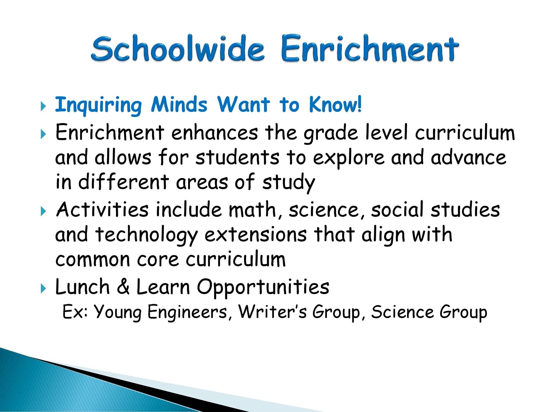 Schoolwide Enrichment