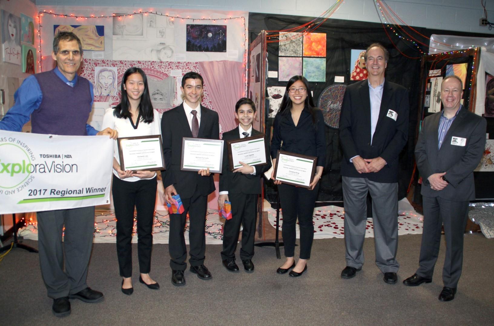 Regional Winners with Toshiba Representatives