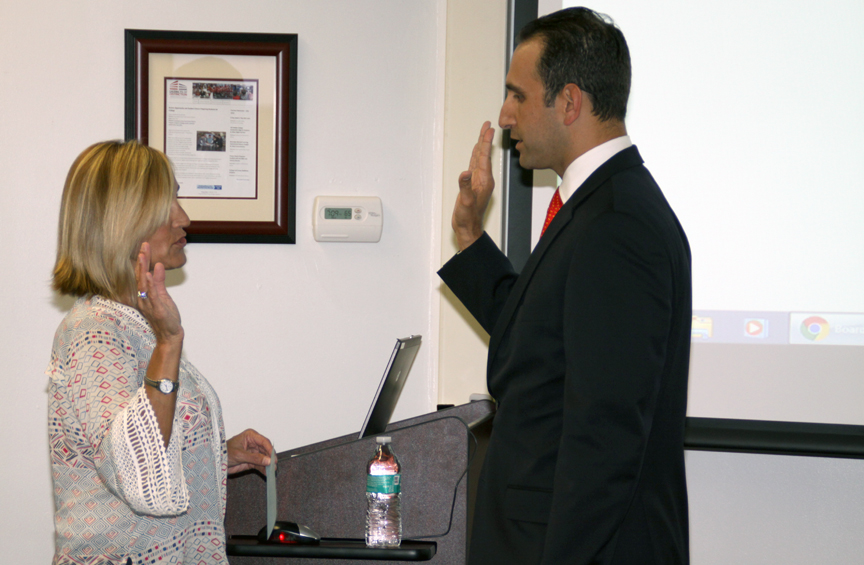 Mr. Behar was sworn in as Vice President.