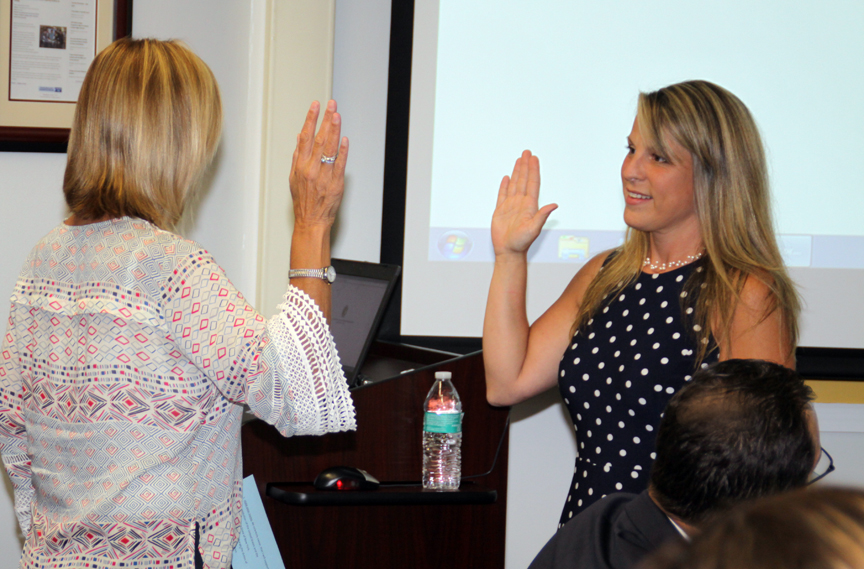 Mrs. Carpenter was sworn in as a new BOE trustee.