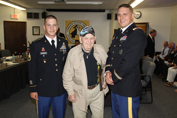 Mr. Schaum was recognized for his service to our country in WWII by representatives from the US Army