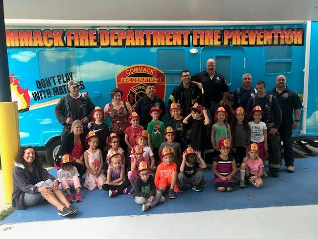 Photo of Students and Firefighters