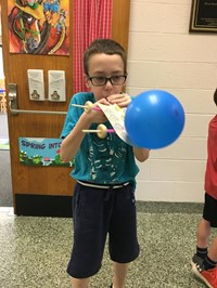 Student With Balloon Car