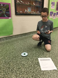 Student Recording Time For Spinning Top