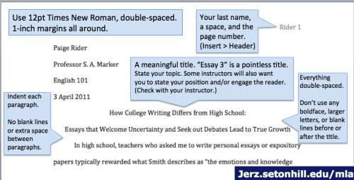 Place in a essay where you add your sources