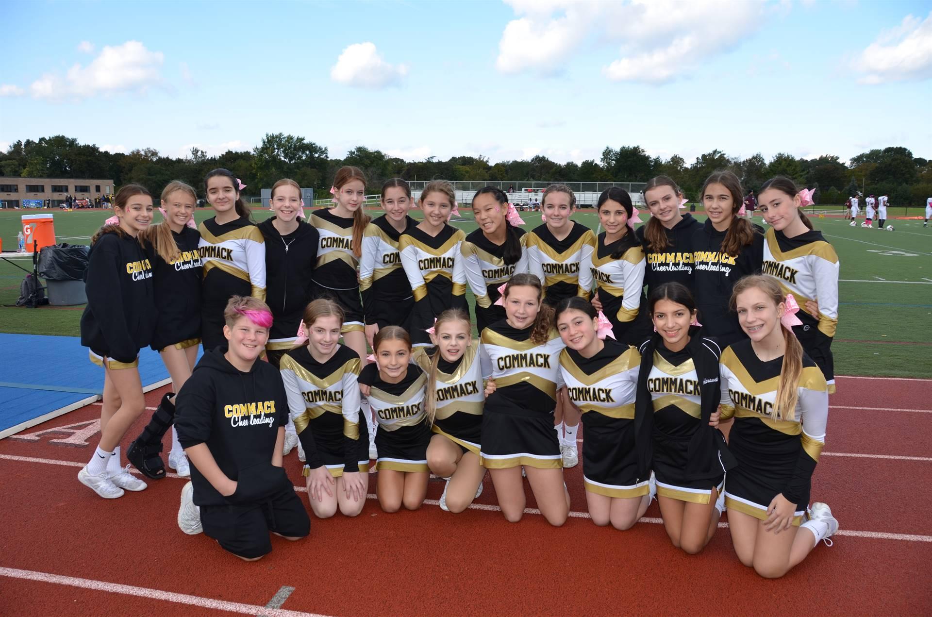 CMS Cheerleaders at Homecoming