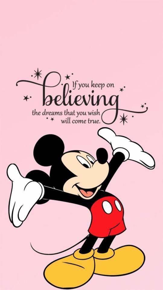 Mickey Mouse Quote: Believe