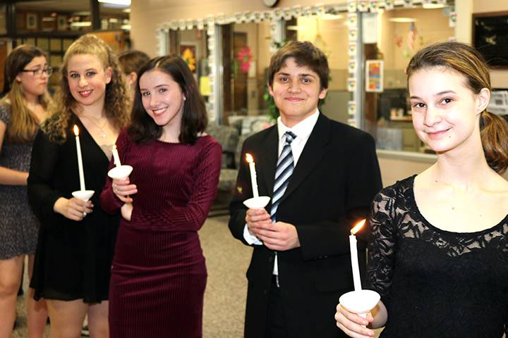 National Honor Society Induction at Commack High School