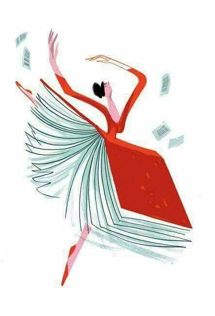 A dancer wearing a skirt that is in the shape of a book from http://ww1.donnareillycontent.com/