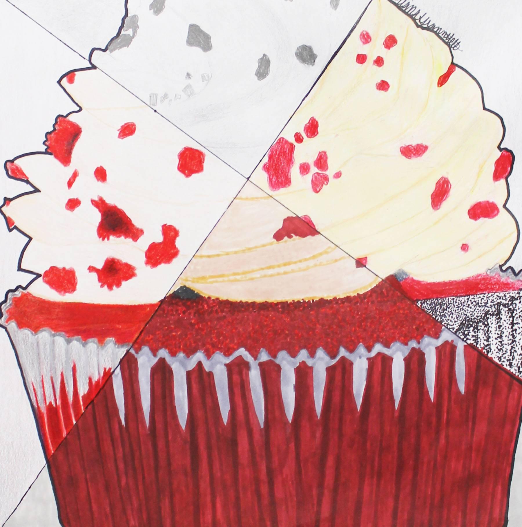 Cupcake mixed media