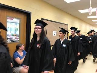 Photo of Graduating Seniors who attended Wood Park Primary School