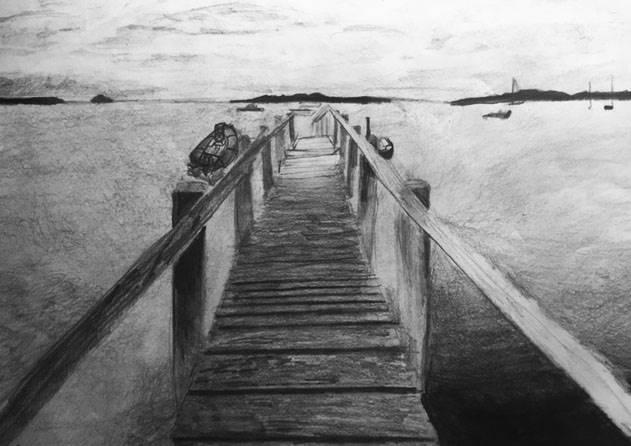 Pencil Drawing of Bridge