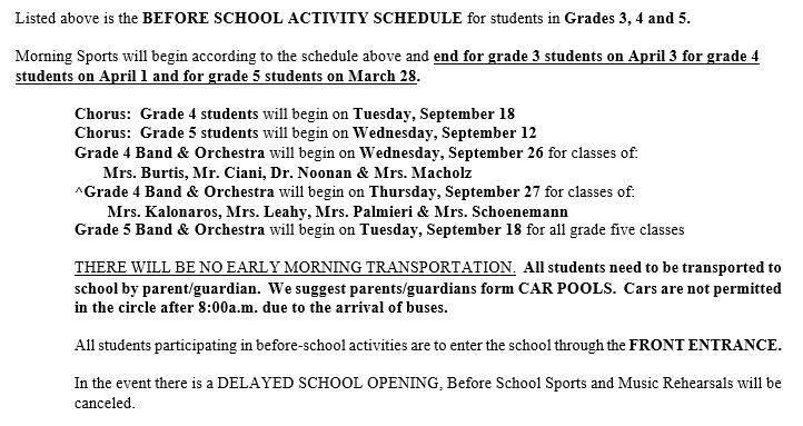 Activity Schedule Bottom