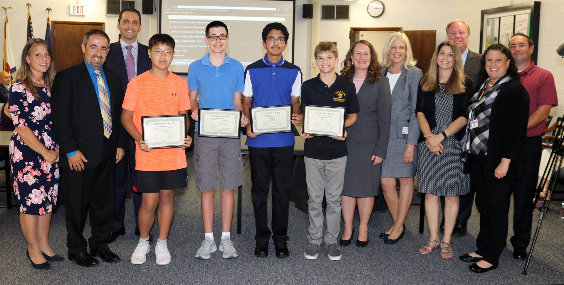 BOE Meeting Awards September