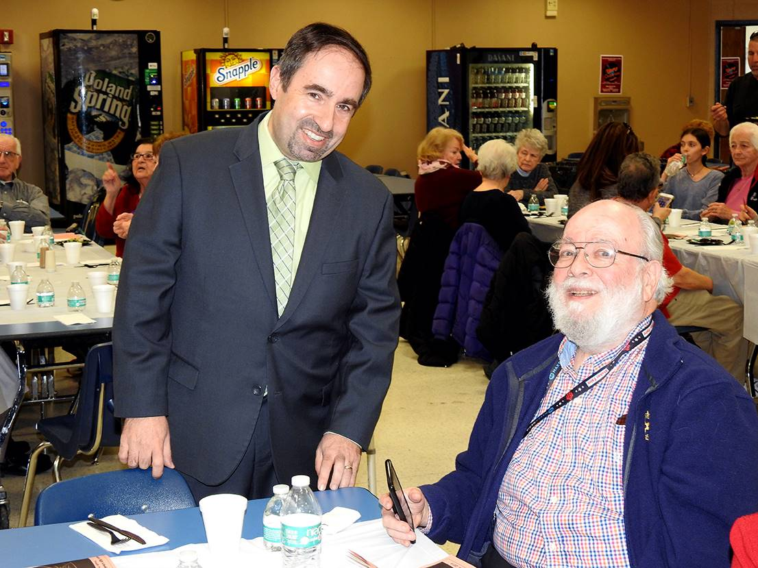 Board of Education President Steven Hartman and Fred Kruger