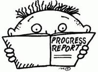 boy with progress report