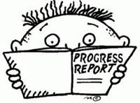 boy with progress report